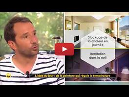 Peinture thermorégulante Tempolis - Reportage La Quotidienne France 5