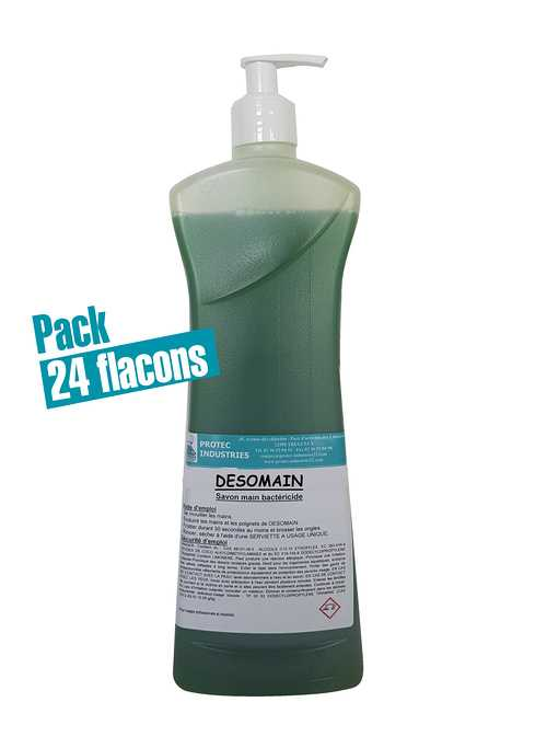 SAVON DESOMAIN : carton de 12 flacons de 1 L