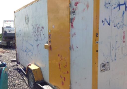 Démo POLYADUR sur cabane de chantier polyaduravant