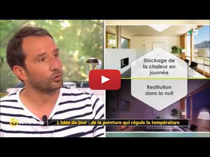 Peinture thermorégulante Tempolis - Reportage La Quotidienne France 5 0