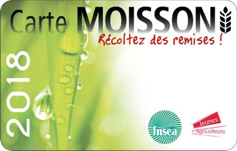 PROMO AVEC LA CARTE MOISSON 0